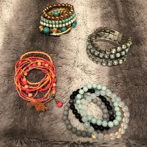 Coral and Turquoise Bracelet Sets